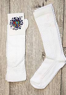 Білі дитячі шкарпетки гольфи на дівчаток бавовна 90%. Розмір 31-36. Від 6 пар по 5.60 грн