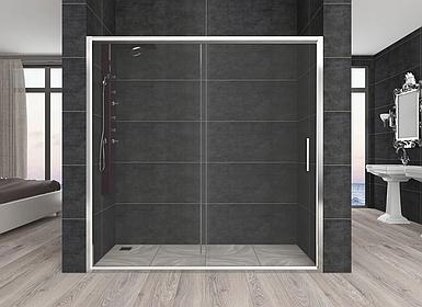 Душевая дверь Aquanil CARMEN, 120х190, дверь раздвижная, стекло прозрачное