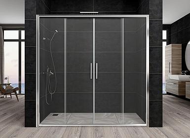 Душевая дверь Aquanil TREND, 160х190, дверь раздвижная, стекло прозрачное