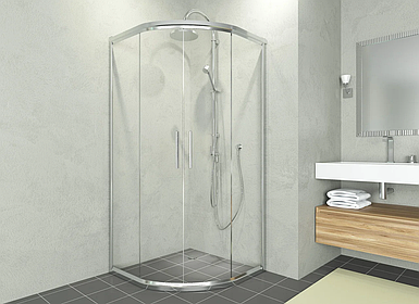 Душевая кабина Aquanil ALONZA, 85х85х190, двери раздвижные, прозрачное стекло, без поддона