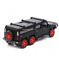 Игрушечная машинка металлическая джип «Hummer», Автопром, черный, 6*16*6 см, от 3 лет, (6618), фото 3