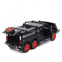 Игрушечная машинка металлическая джип «Hummer», Автопром, черный, 6*16*6 см, от 3 лет, (6618), фото 4
