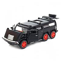 Игрушечная машинка металлическая джип «Hummer», Автопром, черный, 6*16*6 см, от 3 лет, (6618), фото 5