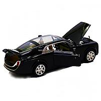 Машинка ігрова Rolls-Royce «Автопром», метал, чорний 18*5*7 см, (7693), фото 5
