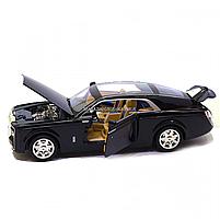Машинка ігрова Rolls-Royce «Автопром», метал, чорний 18*5*7 см, (7693), фото 6