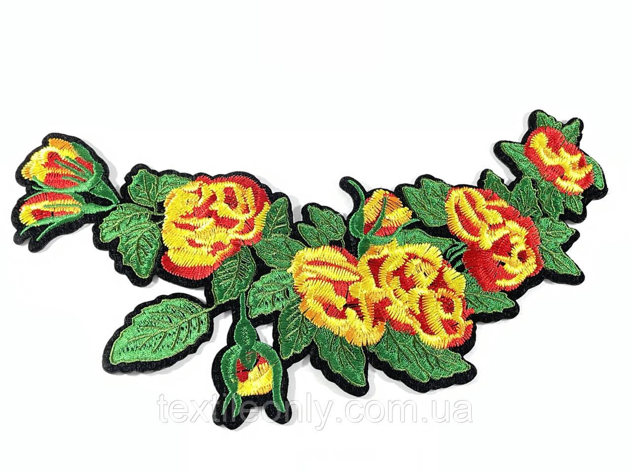 Нашивка Ветка цветов 115х235 мм