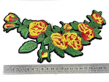Нашивка Ветка цветов 115х235 мм, фото 2