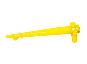 Бур для пляжного зонта желтый 39х9.5 см, держатель для садового зонта, бур для зонта