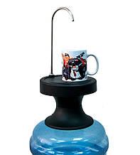 Электрическая помпа для воды с подставкой ZSW-C06 черная, насос для бутилированной воды