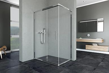 Душевая кабина Aquanil MINNESOTA, 120х90х190, дверь раздвижная, стекло прозрачное, без поддона