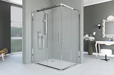 Душевая кабина Aquanil UNIMAR, 100х80х190, дверь раздвижная, стекло матовое, без поддона