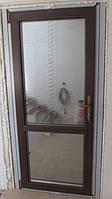 Пластиковая межкомнатная дверь 1010х2020мм REHAU Ecosol-Design 70, Ламинат. Тонировка.