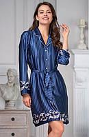 """Рубашка-халат """"Барокко"""" 8617 XL (Женские халаты)"""