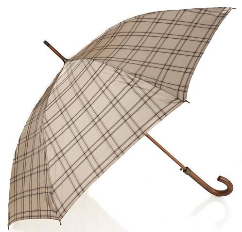 Зонт-трость клетка женский полуавтомат Zest Z51652-6