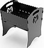 Розбірний мангал Марки авто (3мм + чехол)