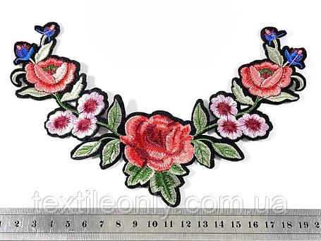 Нашивка Ветка цветов 130х200 мм, фото 2
