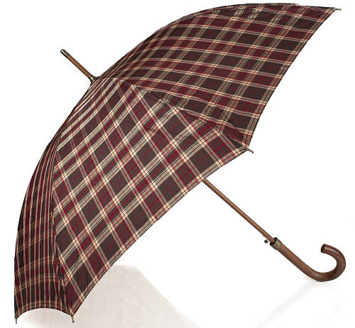 Зонт-трость клетка женский полуавтомат Zest Z51652-7
