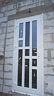 Входная пластиковая дверь 900х2200мм REHAU Ecosol-Design 70. Стеклопакет Солар+Кризет