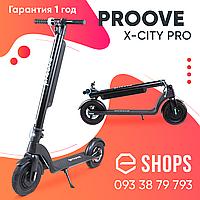 Электросамокат Proove x-city pro black/blue Складной электрический самокат Прув для детей и взрослых черный