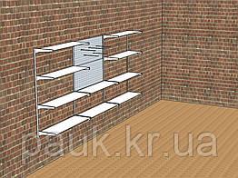 Система настінних стелажів Н 1450х1200 мм тип 9, металеві стелажі в майстерню