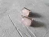 """Серьги серебряные """"Розовый кварц"""", фото 8"""