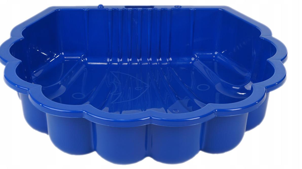 Пісочниця ракушка пластикова Dorex синя 2075