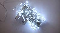 Светодиодная гирлянда LED 100L (силикон),БЕЛАЯ,8м.Гирлянда новогодняя led,100лампочек,8м.Гирлянда светодиодная