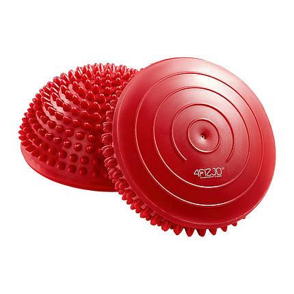 Півсфера масажна балансувальна (масажер для ніг, стоп) 4FIZJO Balance Pad 16 см 4FJ0109 Red, фото 2