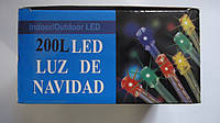Светодиодная гирлянда 200 LED (силикон),БЕЛАЯ,13м.Гирлянда новогодняя led,200лампочек,13м.Гирлянда светодиодна