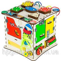 Эко - Бизиборд GoodPlay, Развивающий кубик (25×25×25)