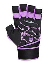 Рукавички для фітнесу і важкої атлетики Power System Fitness Chica жіночі PS-2710 Purple S, фото 3