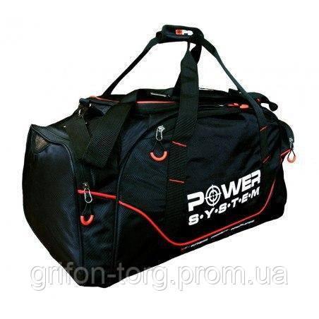 Спортивна Сумка Power System PS-7010 Gym Bag Magna Blak/Red