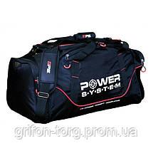 Спортивна Сумка Power System PS-7010 Gym Bag Magna Blak/Red, фото 3