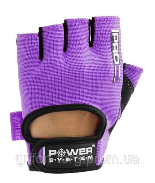 Рукавички для фітнесу і важкої атлетики Power System Pro Grip PS-2250 жіночі Purple M