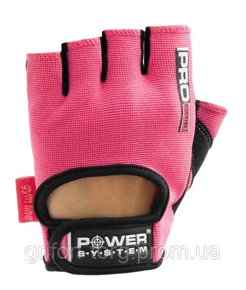 Рукавички для фітнесу і важкої атлетики Power System Pro Grip PS-2250 жіночі Pink XS