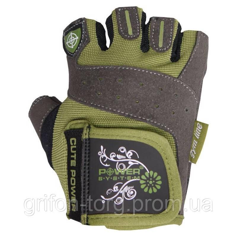 Рукавички для фітнесу і важкої атлетики Power System Cute Power PS-2560 жіночі Green M