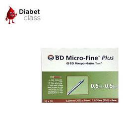 Шприцы инсулиновые BD Micro-Fine+ 0,5мл 8мм