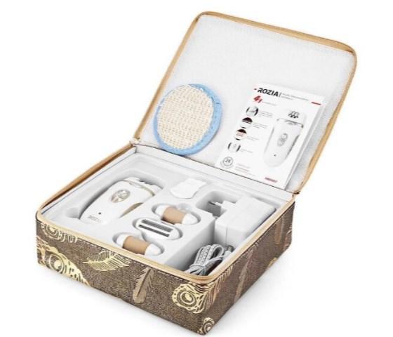 Эпилятор Rozia Hb-6007 Женский С 4 Насадками + Подарочная Упаковка