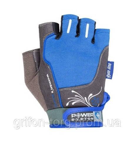 Рукавички для фітнесу і важкої атлетики Power System woman's Power PS-2570 жіночі Blue S