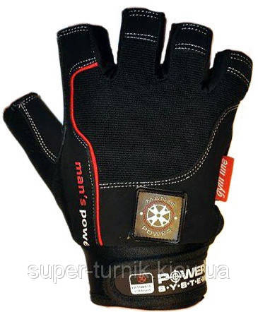 Рукавички для фітнесу і важкої атлетики Power System man's Power PS-2580 M Black