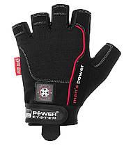Рукавички для фітнесу і важкої атлетики Power System man's Power PS-2580 M Black, фото 3