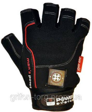 Рукавички для фітнесу і важкої атлетики Power System man's Power PS-2580 Black L, фото 2