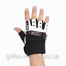 Рукавички для фітнесу і важкої атлетики Power System No Compromise PS-2700 Black/White XL, фото 2