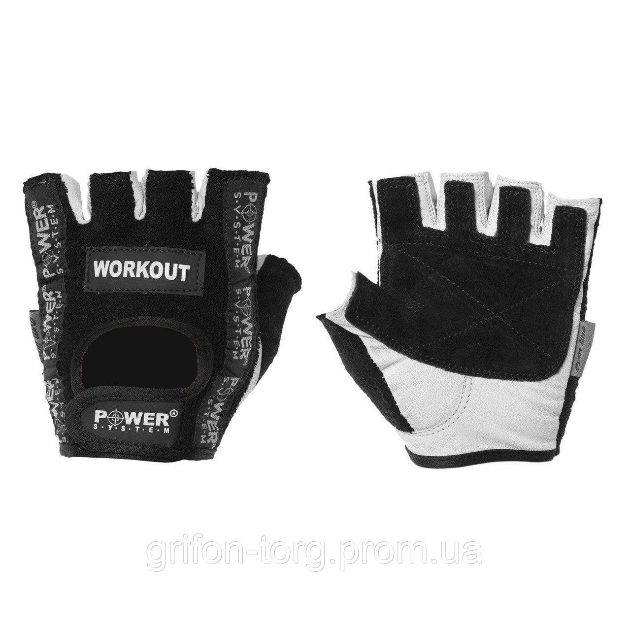 Рукавички для фітнесу і важкої атлетики Power System Workout PS-2200 S Black