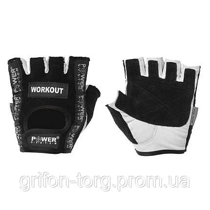 Рукавички для фітнесу і важкої атлетики Power System Workout PS-2200 S Black, фото 2
