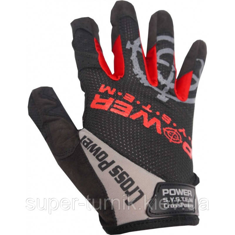 Рукавички для кроссфіт з довгим пальцем Power System Cross Power PS-2860 Black/Red XXL