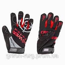 Рукавички для кроссфіт з довгим пальцем Power System Cross Power PS-2860 Black/Red XXL, фото 3