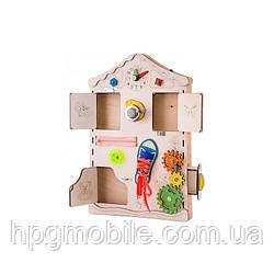 Эко - Бизиборд GoodPlay, Развивающая доска-домик (38×56×6)