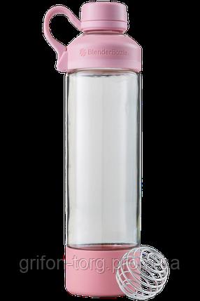 Спортивна пляшка-шейкер BlenderBottle Mantra Glass Pink (СКЛО) 600мл (ORIGINAL), фото 2