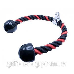 Канат для трицепса з подвійним хватом Power System Triceps Rope PS-4041